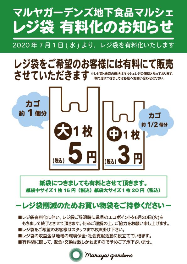 HPインフォメーション用_レジ袋有料化のお知らせ